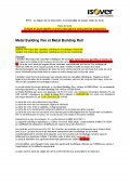Metal Building Pan & Roll cahier des charges
